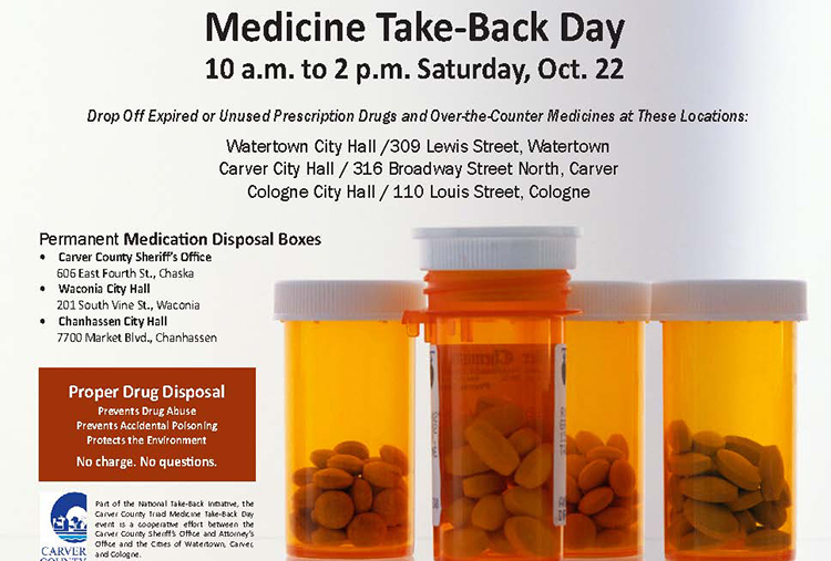 Medicine Take-Back Day on Oct. 22
