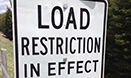 Spring Load Restrictions on County highways