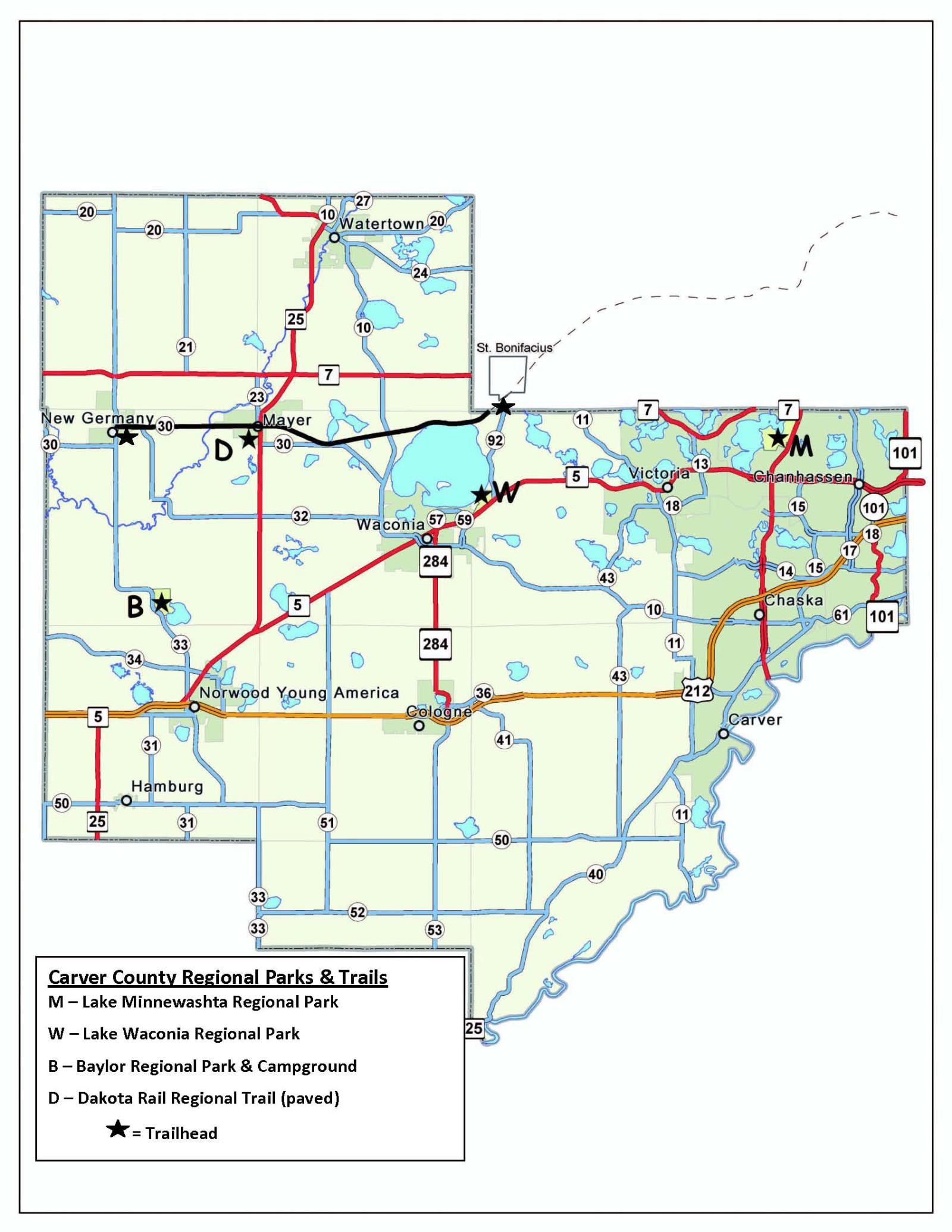 Maps Brochures Carver County MN - County maps of minnesota