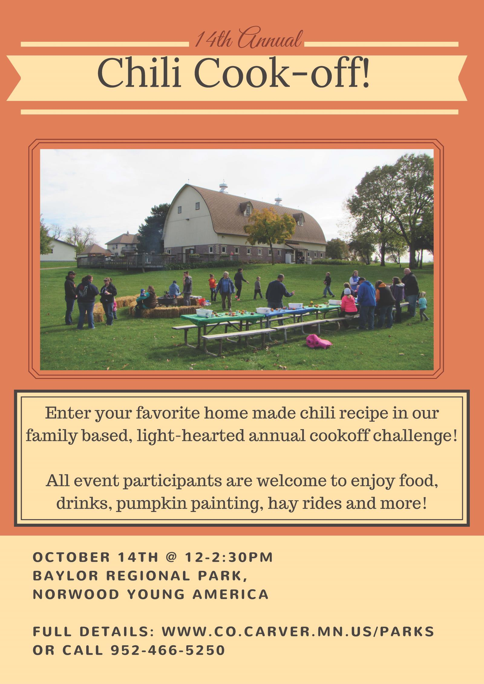 Chili Cook Off Flyer 2017