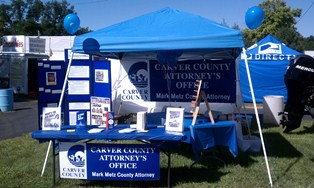 Booth at Carver County Fair