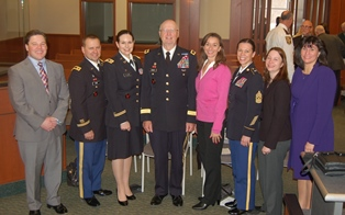 Group shot of Veterans Court Guests