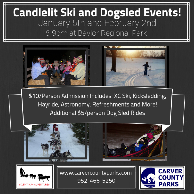 2019 Candlelit Ski and Dogsledding