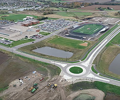 Highway 10 Project Roundabout South view