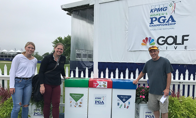 Environmental Services Leads Effort To Divert Waste at 2019 KPMG Women's PGA Championship