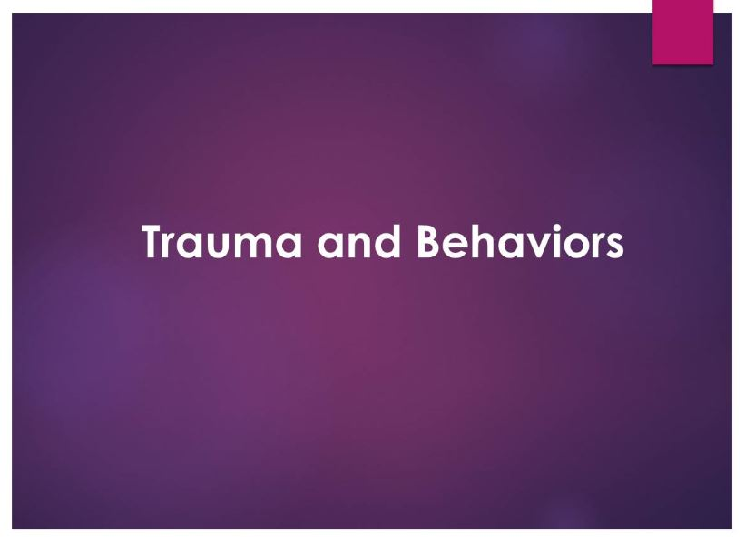 Trauma and Behaviors