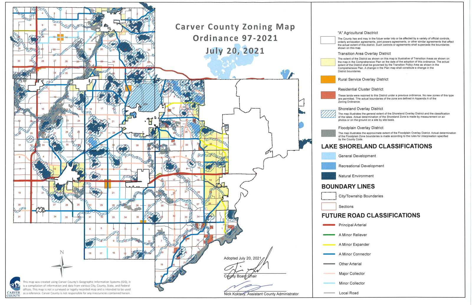 Map of Carver County