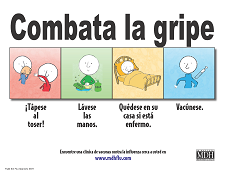 Fight the Flu Poster - Spanish