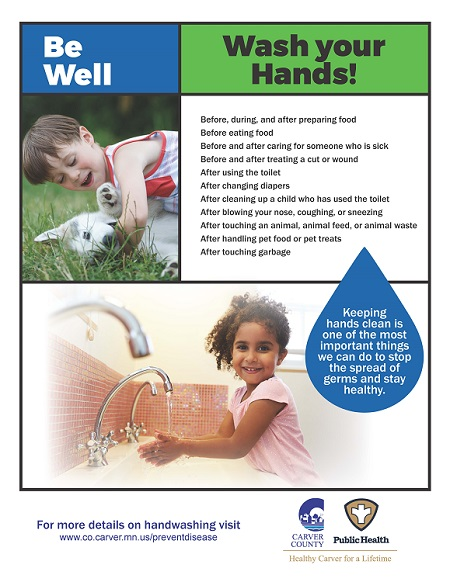 CCPH Wash Your Hands Poster - Boy-Dog