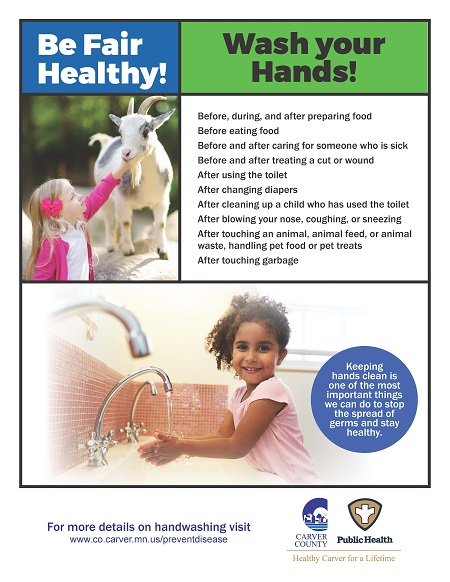 CCPH Wash Your Hands Poster - Girl-Goat