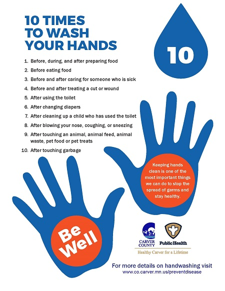 CCPH Wash Your Hands Poster - with Hands