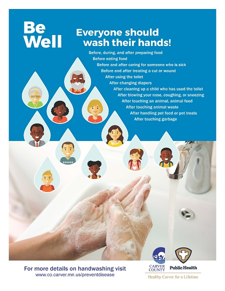 CCPH Wash Your Hands Poster - with Water Drops