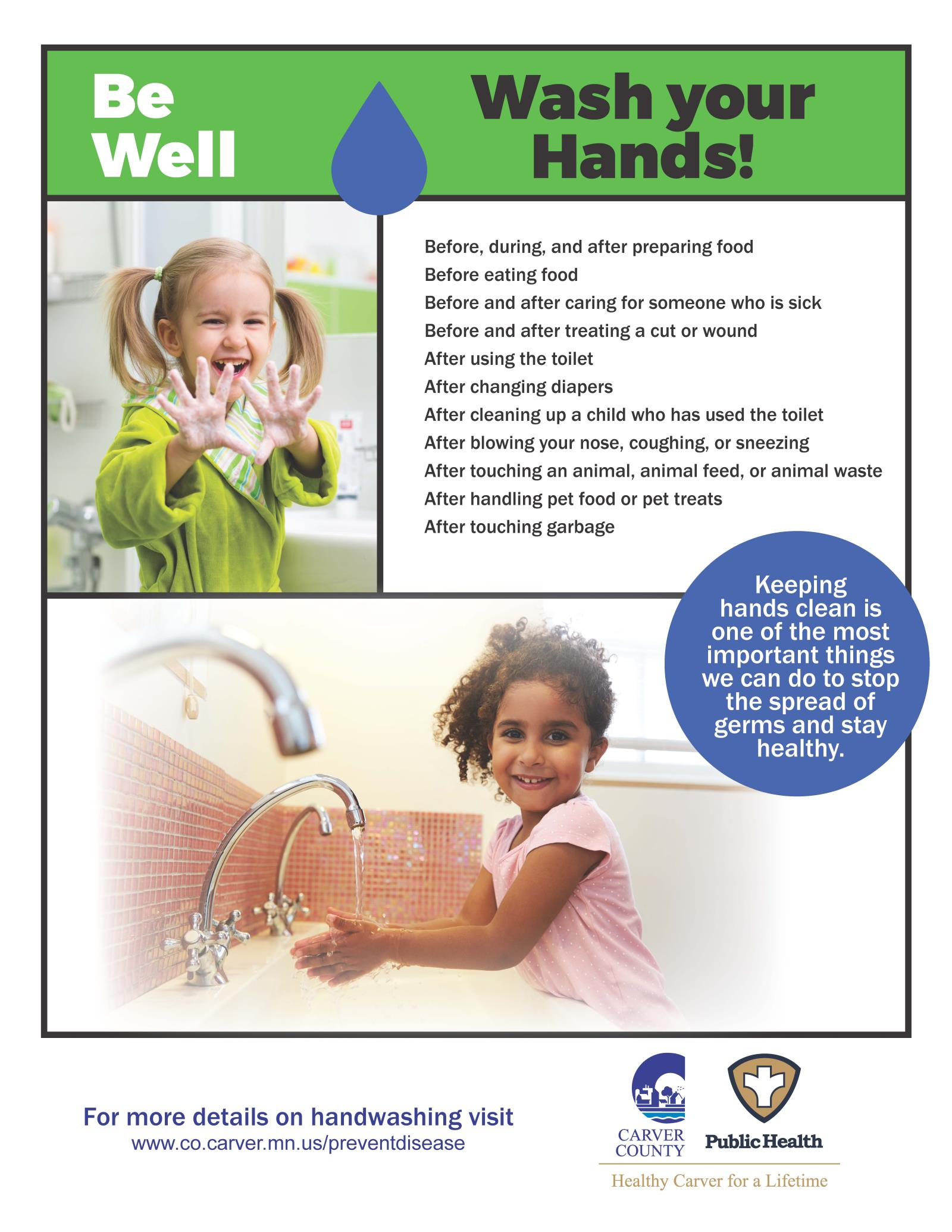 CCPH Wash Your Hands Poster - Young Girls